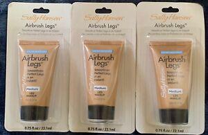 "3 x Sally Hansen ""Airbrush Legs"" Water Resistant 0.75 fl oz ea - Medium"
