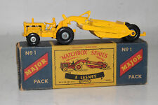 MATCHBOX LESNEY MAJOR PACK #M-1 CATERPILLAR EARTH MOVER, RARE BOX TYPE C