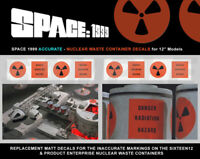 """SPACE 1999 EAGLE - 12"""" Models - NUCLEAR WASTE CONTAINER DECALS - ACCURATE - NEW"""