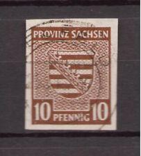 1945 Provinz Sachsen - Michel 72 Provinzwappen gestempelt