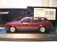 MEGA RARE MINICHAMPS 1/43 1989 BMW 320i TOURING(E30) ONLY 1008 PCS WORLDWIDE NLA