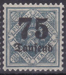 Altdeutschland / Württemberg Mi. Nr. 176 Volksstaat 1923 75t M on 2 M Dienst MNH