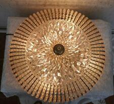 Plafoniere  XXL Deckenlampe Perlen Strass Kristall  Glas rund 60er Mid Century