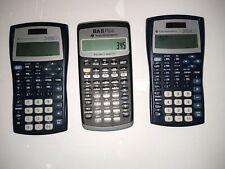 Ti-30X Iis calculators and a financial calculator Ba Ii Plus
