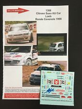 DECALS 1/43 CITROEN SAXO KIT CAR SEBASTIEN LOEB RALLYE RONDE CEVENOLE 1998 RALLY