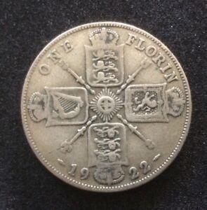 1922 Florin 50% Silver Coin - George V - Good Collectable Condition