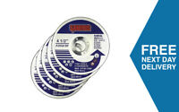 115mm Metal Cutting Discs | Pack of 5 | Thin Slitting use with Angle Grinder
