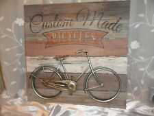 Bicycle, Rustic, Wall Decor, Bicycle Decor, Wood, Metal, Wall Art, Rustic sign