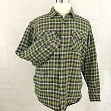 Wrangler Insulated Flannel Warm Western Cowboy Shirt Men's Large Checks