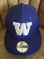 New Era WASHINGTON HUSKIES UW Football COLLEGE HAT Baseball Fitted Cap Sz 7