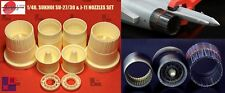 "1/48. Sukhoi SU-27/30 &, J-11 nozzles resin set, by ""A.M.U.R.reaver"" RC4823. NEW"