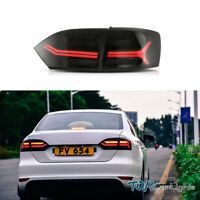 VLAND 2* Tail Lights For  VW Jetta MK6 2011-2014 Smoked Lens W/ Sequential LED