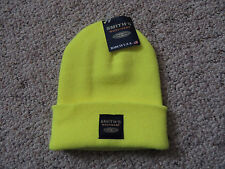 Mens Boys Adult Unisex Knit Yellow One Size Smith's Workwear Stocking Cap Hat