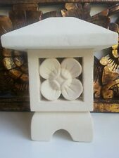 HAND CARVED SAND STONE  LANTERN TEA LIGHT CANDLE HOLDER BALI BALINESE