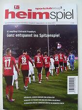 Programm Stadionheft   SC Freiburg - Eintracht Frankfurt   22.02.13   SGE   NEU