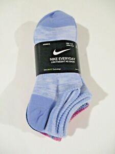 6 pair Nike Womens lightweight athletic no show socks size 6-10