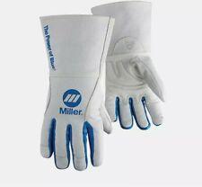 MILLER ELECTRIC 263332 MIG Welding Gloves Size Medium, 12 inch