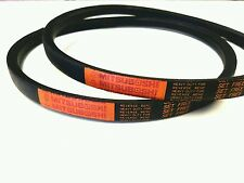 2 Genuine Mitsuboshi   PTO Belts For Kubota G3 / G3HST Replaces P/N 66021-2500-0