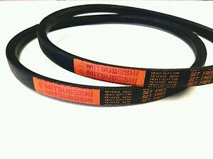 2 Genuine Mitsuboshi   PTO Belts For Kubota G18 / G21 Replaces P/N 66021-25080