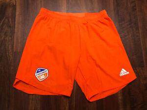 New Adidas Mens FC Cincinnati Soccer Shorts Size Medium Orange Blue