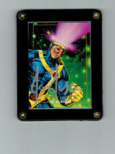 MARVEL MASTERPIECES 1992 SIGNED JOE JUSKO CYCLOPS FROM THE X-MEN IN DISPLAY