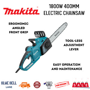 """Makita Electric Chainsaw 1800W 400mm NEW Genuine Corded 16"""" Tool For Metal"""