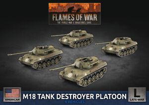 PREORDER Flames of War Late War USA M18 Hellcat Tank Destroyer Platoon (UBX89)