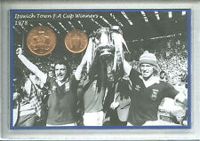 Ipswich Town Vintage FA CUP Final gagnants Rétro John Wark Pièce Ventilateur Ensemble Cadeau 1978