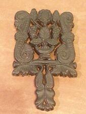New listing Vintage Cast Iron Grapevine Trivet Black