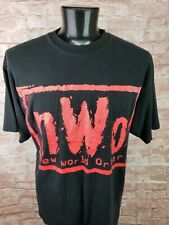Vtg 90s NWO Wrestling T-Shirt men 2XL New World Order WCW Distressed Faded