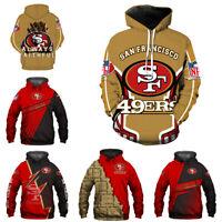 San Francisco 49ers Hoodies 3D Print Sweatshirts Football Hooded Pullover Jacket