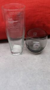 SET OF TWO (2) GLASSES FEATURING THE NEW YORK GIANTS - LOWBALL & HIGHBALL