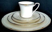 Noritake Vintage Golden Cove Art Deco 5 Pc Setting Dinnerware