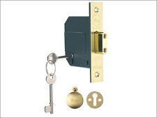 Yale  PM562 Hi-Security BS 5 Lever Mortice Deadlock 68mm (2.5in) Polished Brass
