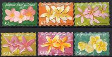 PAPUA NEW GUINEA SG1074/9 2005 FRANGIPANI FLOWERS  MNH