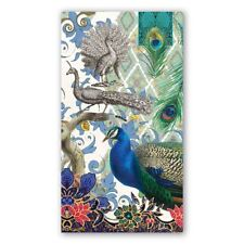 Michel Design Works 15 Triple-Ply Paper Hostess Napkins Peacock - NEW