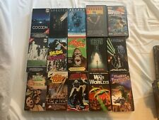 Lot of 15 Sci-Fi Horror Monster VHS Tapes Godzilla Fly 2 The Thing UNTESTED