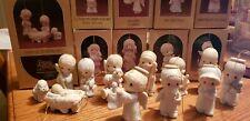 Precious Moments Nativity Ornaments, lot of 9 (See Description for Details)