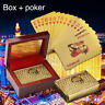 WR Golden Australian 100 Table Game Playing Cards With Red Gift Wooden Box