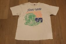 Vintage Sonic Youth Tee Size XL White T-Shirt VTG 90s 00s Nirvana Pearl Jam Blur