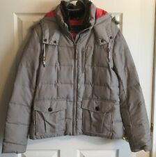 Womens Jacket GOOSE DOWN Coat EDDIE BAUER Quilted Winter Parka w Hood LARGE