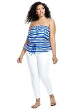 Cool CITY CHIC BNWT 'Summer Stripe' Top rrp $69.95 - Size XS (14-16)