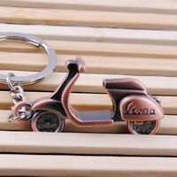 Classic Scooter Moped Motorcycle Keychain 3D Model Pendant Charm Vintage Bronze