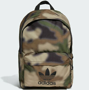 ADIDAS ORIGINALS CLASSIC CAMO BACKPACK BAG SCHOOL GYM MEN WOMEN KIDS GREEN NEW N