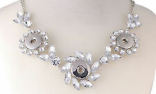 Snap Buttons Rhinestone Star Metal Snap Necklace Multi Snap Fits 3 18mm