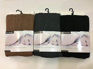 Kunert  Soft Cotton Gray/Beige Waist-High Stockings  Pantyhose M,L,XL Germany