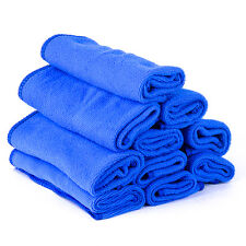 10pcs Absorbent Microfiber Towel Car Home Kitchen Washing Clean Wash Cloth Blue