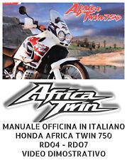 MANUALE OFFICINA IN ITALIANO HONDA AFRICA TWIN 750 RD04 - RD07 1990 al 1996