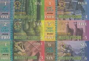 Machu Picchu Set 6 banknotes in 2016 UNC (private issue)