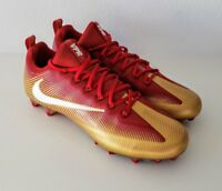 Nike Vapor Untouchable Pro Carbon Football Cleats Red/Gold 925423-728 Size 14
